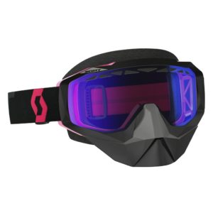 Goggle Hustle Snow Cross black/fluo pink/illuminator blue chrome