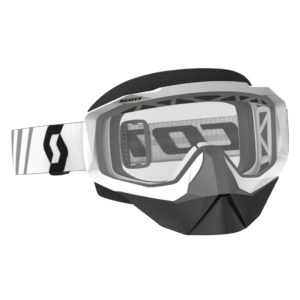 Goggle Hustle Snow Cross white/clear