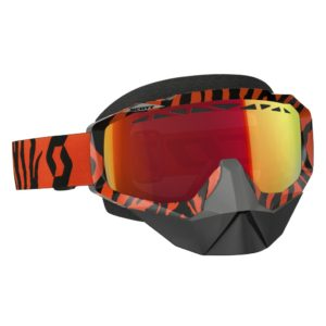 Goggle Hustle Snow Cross black/fluo orange/amplifier red chrome